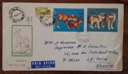 ROUMANIE, Canidés, LOUP, Yvert N°2678 Sur Lettre Ayant Circulé En 1972 Pour Le PECQ En France - Sellos