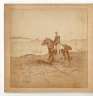 14662 01 FOTO Cm 9 X 9 Su Cartoncino CAPITANO SOTARO 1 REGGIMENTO GRANATIERI - LIVORNO 1888 - Guerre, Militaire