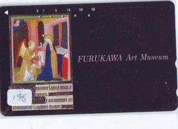 Télécarte Japon * PEINTURE * ICON * La RELIGION * ART (158) Japan * Phonecard * KUNST TELEFONKARTE - Pintura