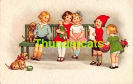 CPA ILLUSTRATEUR MARIE FLATSCHER ENFANT POUPEE CHIEN ARTIST SIGNED GIRL CHILD DOLL DOG BEGRO - Altre Illustrazioni