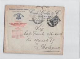 14822 01 CONTI CALDA & C. PRODUZIONE ESTRATTO DI POMIDORO RAVENNA X BOLOGNA - 1900-44 Vittorio Emanuele III