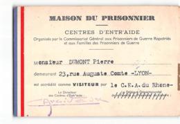 14882 01 MAISON DU PRISONNIER CENTRES D'ENTRAIDE LYON - Vecchi Documenti