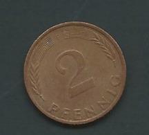 ALLEMAGNE - 2 PFENNIG 1976.F - Laupi 11013 - [ 7] 1949-… : FRG - Fed. Rep. Germany