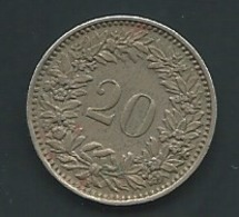 Suisse  -  Switzerland 20 Rappen 1954 ( - Laupi 11106 - Switzerland