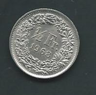 Suisse  -  Switzerland SUISSE : 1/2 FRANC 1968 B - Laupi 11107 - Switzerland