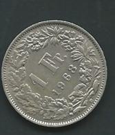 1968 - Suisse - Switzerland - 1 FRANC, (B), Helvétia Debout   Laupi 11115 - Schweiz