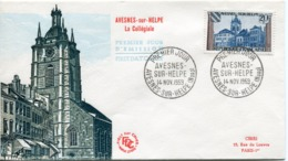 FRANCE Enveloppe Premier Jour - Avesnes Sur Helpe - Oblit Avesnes 14/11/59 - 1950-1959