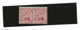 MONACO Timbre N° 26 Yvert Surchargé Croix Rouge 2 Timbres SURCHARGE INVERSEE Charnière ...H - Monaco