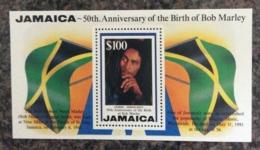 Jamaica 1995 50th Birth Bob Marley Minisheet MNH - Jamaica (1962-...)