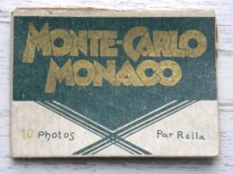 Pochette De 10 Photos -  MONTE-CARLO MONACO - Clichés Rella - Photos