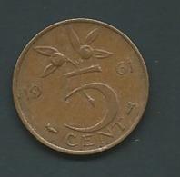 5 Cent PAYS-BAS 1961  Laupi 11213 - 1948-1980 : Juliana