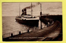 Kent - Folkestone, The Flushing Boat Leaving Harbour - Postcard - 1927 - Folkestone