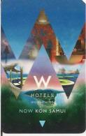 TAILANDIA KEY HOTEL  W Hotels, Koh Samui, Suratthani Province - Hotel Keycards