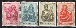 SVIZZERA - 1961 - I 4 EVANGELISTI - SCULTURE IN LEGNO - USATI - Usati