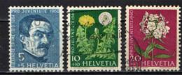 SVIZZERA - 1960 - PRO JUVENTUTE - ALEXANDRE CALAME (PITTORE SVIZZERO) E FIORI (SOFFIONE E FLOGO) - USATI - Usati