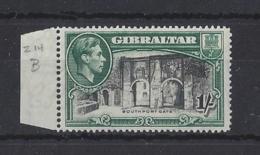 GIBRALTA.....KING GEORGE VI.(1936-52)......1/-.......SG127.....MARGINAL.......MNH . - Gibraltar