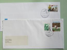 San Marino, Storia Postale, 2 Buste Fumetti (Tex Willer), Sport (Germania Campione) - San Marino