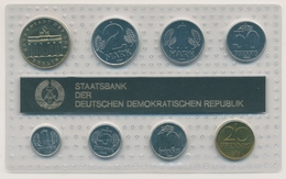 DDR 1989 Offizieller Kursmünzensatz 1 Pf. - 5 Mark Brandenburger Tor, St (m2322) - [ 6] 1949-1990: DDR - Duitse Dem. Rep.