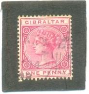 1886 GIBRALTAR Y & T N° 9 ( O ) - Gibraltar