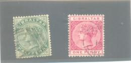 1886 GIBRALTAR Y & T N° 8 Et 9 ( O ) - Gibraltar