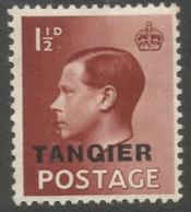 Morocco Agencies (Tangier). 1936-37 KEVII, 1½d MH SG 243 - Oficinas En  Marruecos / Tanger : (...-1958