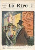 Le Rire 558 - 11.10.1913 - Montmartre Métivet - Gervèse Marine Maître D'hôtel Au Carré - Guide Au Chateau - Books, Magazines, Comics