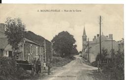 BOURG FIDELE Ardennes Cpa Rue De La Gare CAD Facteur Boîtier Sur 15c Semeuse N° 130   ...H - France