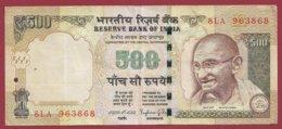 Inde 500 Rupees 2014 Dans L 'état - Indien