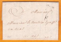 1763 - Marque Postale GRASSE, Var Sur Lettre Pliée Avec Correspondance Amicale De Bar Sur Loup Vers Aix En Provence, BdR - Marcofilie (Brieven)