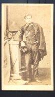 PHOTOGRAPHIE CDV ANONYME - ETUDIANT à L' EPOQUE NAPOLEON III - Dos Vierge. - Guerre, Militaire