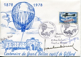 FRANCE  - 1878-1978 GRAND BALLON CAPTIF DE GIFFARD 9/12/1978 PARIS - 1960-.... Usati