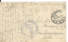 Allemagne MARINE MILITAIRE Guerre 14 18 S.M.S GNEISENAU + Cachet Kaiserliche Marine + CAD WILHELMSHAVEN 1915  ...H - Autres