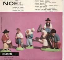Vinyles. 45 T. Noël. Orchestre Et Chœurs Sous La Direction De André Grassi (4 Chansons) Studio Match Record - Weihnachtslieder