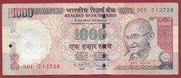 Inde 1000 Rupees 2012 Dans L 'état - Indien