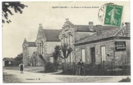 33-SAINT-GIRONS-La Poste Et Le Groupe Scolaire...1914  Animé - France