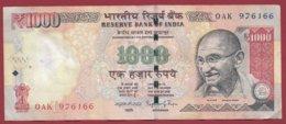 Inde 1000 Rupees 2014 Dans L 'état - Indien