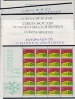 Europa Cept Liechtenstein 1964/65/67/69/1970/71/72 7 Sheetlets ** Mnh (F7994) - 1972