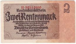 Germany P 174 B - 2 Rentenmark 30.1.1937 - AUNC - Altri