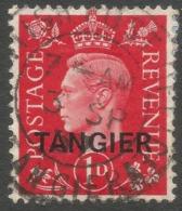Morocco Agencies (Tangier). 1937 KGVI. 1d Used SG 246 - Oficinas En  Marruecos / Tanger : (...-1958