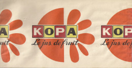 Chapeau Publicitaire En Papier.  Jus De Fruit KOPA.   Rablay Sur Layon (49). - Casquettes & Bobs