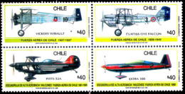 630  Airplanes - Avions - Chile Yv 955-58 MNH - 1,25 (3) - Avions