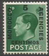 Morocco Agencies (Spanish Currency). 1936-37 KEVII, 5c MH SG 160 - Oficinas En  Marruecos / Tanger : (...-1958