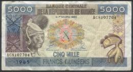Guinée 1960 - 5000 FRANCS Du 1er Mars 1960 - Usagé/Circulé - Guinee