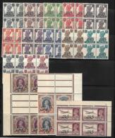 Mascate-Muscat (Oman) 1944 Yvert Série 1/15 Neuve** MNH Blocs De 4 (AA6) - Great Britain (former Colonies & Protectorates)