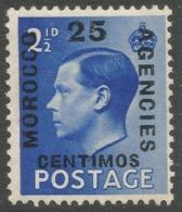 Morocco Agencies (Spanish Currency). 1936-37 KEVII, 25c MH SG 163 - Oficinas En  Marruecos / Tanger : (...-1958