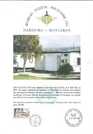 France 1993 BPM 125 Liban UNIFIL FINUL Militaire Military Peacekeeping Forces Info Sheet - Storia Postale