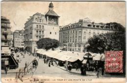 3XS 217 CPA - GENEVE - LA TOUR ET LES PONTS DE L'ILE - GE Genève