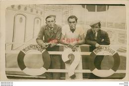 WW TRANSPORTS. Photo Carte Postale Passagers Sur Le Paquebot Normandie. Impeccable Et Vierge - Paquebots