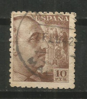 ESPAÑA GENERAL FRANCO EDIFIL NUM. 934 USADO 10 PESETAS - 1931-50 Usati