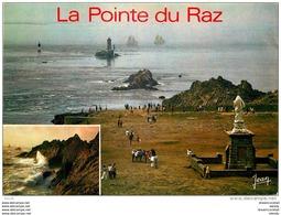 Photo Cpsm Cpm 29 LA POINTE DU RAZ. Navires Ecole La Belle Poule Et L'Etoile Au Raz De Sein - La Pointe Du Raz